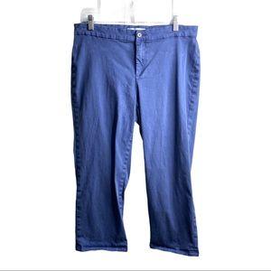 Lila Ryan Blue Gray Womens Chino Casual Pants 14